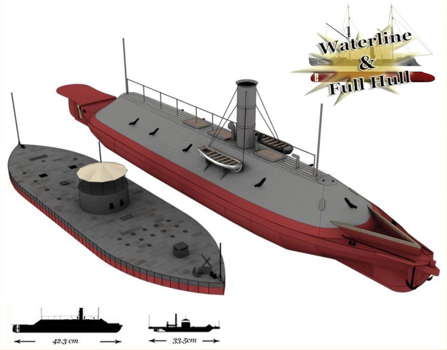 CSS Virginia & USS Monitor - Battle of Hampton Roads