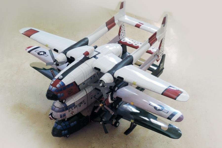 BUNDLE: Fairchild C-119 Flying Boxcar (3 models)