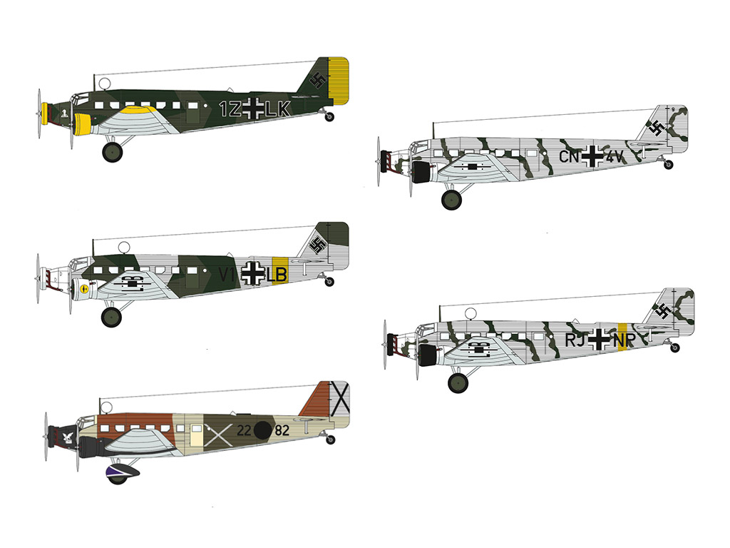 BUNDLE: Junkers Ju 52 (5 models)