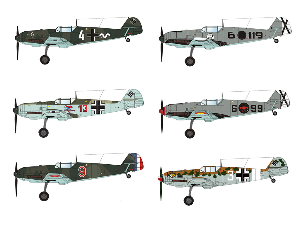 BUNDLE: Marek's Bf 109 Pack1 (9 models)