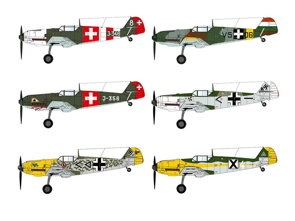BUNDLE: Marek's Bf 109 Pack3 (9 models)