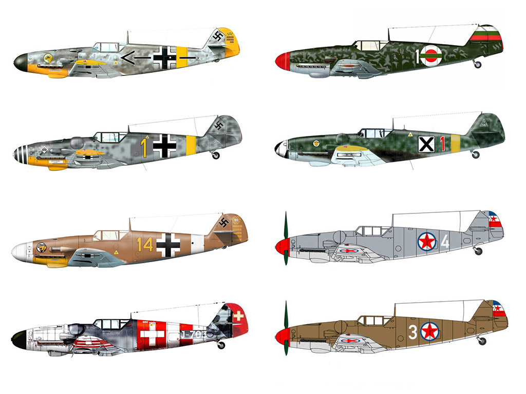 BUNDLE: Zarkov's Messerschmitt Bf 109 (9 models)