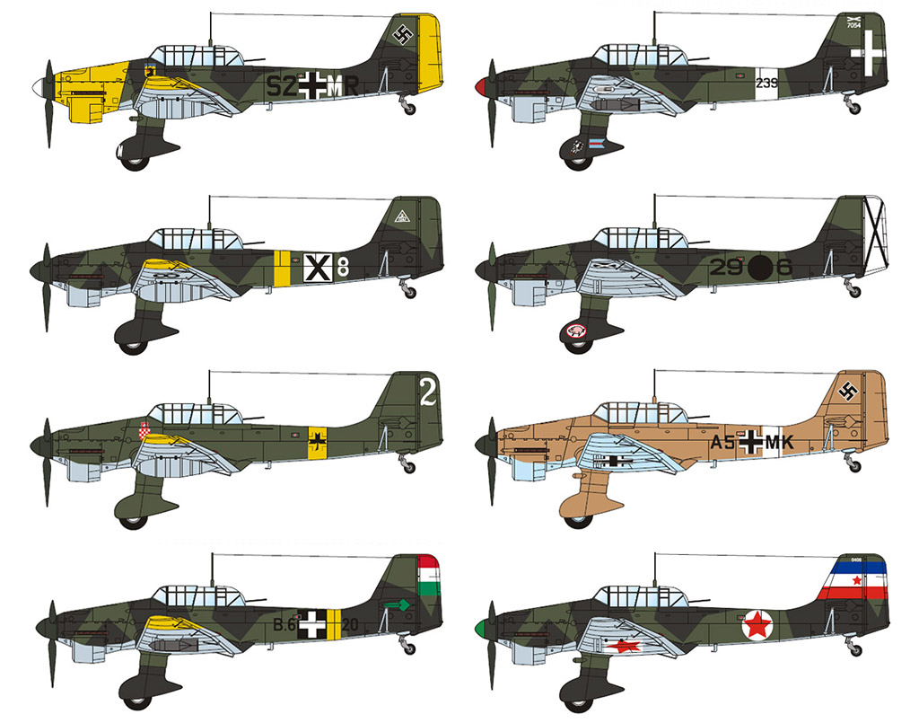 BUNDLE: Junkers Ju 87B (8 models)