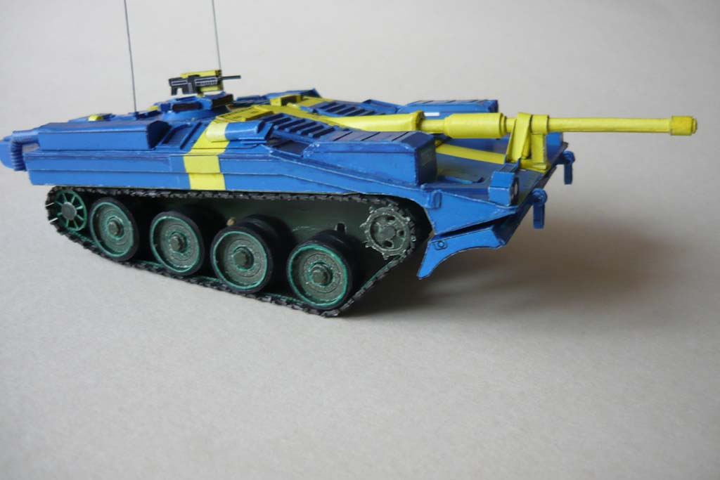 Stridsvagn Strv 103C - Swedish flag