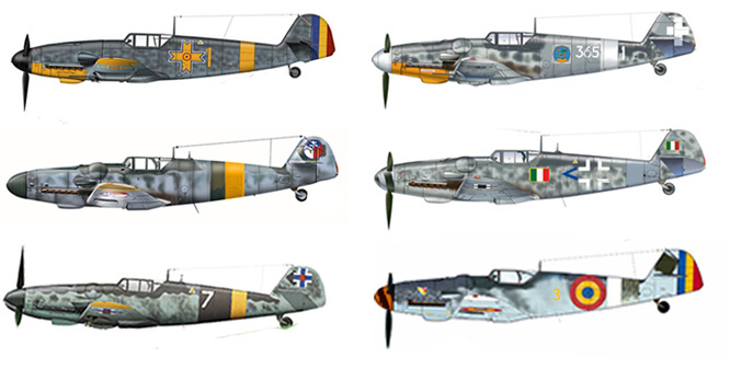 BUNDLE: Messerschmitt Bf 109 (6 models)