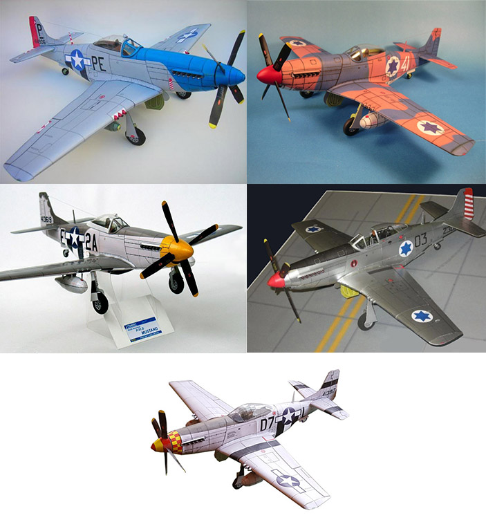 BUNDLE: Zarkov's P-51D Mustang Pack1 (5 models)