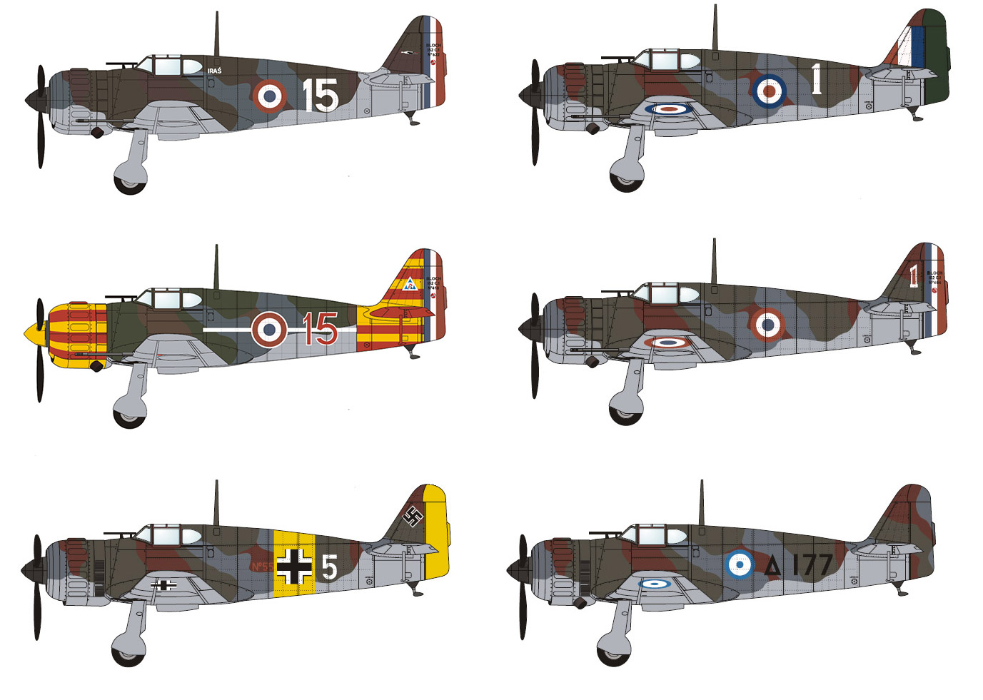 BUNDLE: Bloch MB.151/152 (6 models)